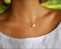 Tiny Sideways Hamsa, Hand Necklace, Hamsa Necklace, Gold Hand Necklace, Fatima Necklace, Good Fortune, Nazar, Evil Eye, CZ Diamond Necklace