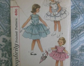 40% Off SALE - Simplicity Child's One-Piece Party Dress Pattern 1900 - Was 8/Now 4.80