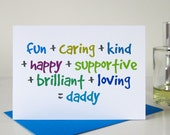 Daddy Card for Dad - Fathers Day Card - Dad Birthday Card - Birthday Cards for Him
