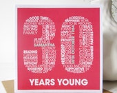 Personalised 30th Birthday Card - Personalized 30th Birthday Card - Birthday Card for Him - Birthday Card for Her