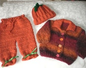Fuzzy Fall 3 Piece Sweater Set in 6 to 12 Months