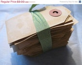 Lot of 25 Medium bLaNk Hang Tags Dyed Baked for Favors Bags Gift Tag Wedding Escort Place Marker