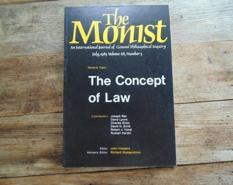 sale, last chance. CONCEPT of LAW The MONIST July 1985 book 1980s