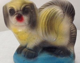 Cute Vintage Chalkware Dog