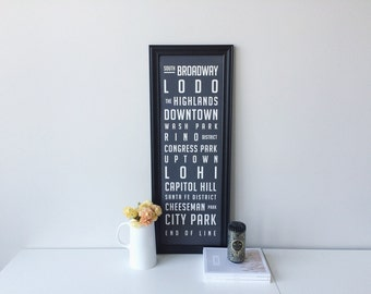 Denver Neighborhood Poster  /   Large - 11.75 x 36 inches