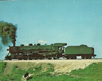 Brazilian State Railways Teresa Cristina Division Locomotive on Tracks Vintage Chrome Postcard 1976