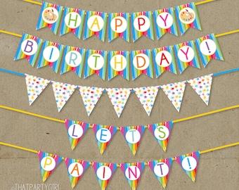 Art Party, Art Party Banner, Art Party Decorations, Painting Party, Painting Party Banner, Art Birthday Party, Painting Birthday Banner