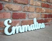 Custom Wood Name Sign - Home decor wall hanging script font for children's bedroom, nursery, playroom, custom made