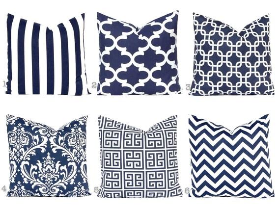 Navy Blue Pillow Throw Pillow Cover Decorative Pillow Cover