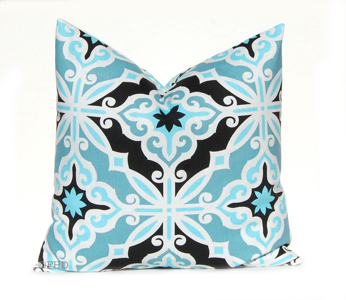 Turquoise And Red Throw Pillows