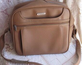 samsonite carry on bag brown overnight bag laptop bag samsonite concord