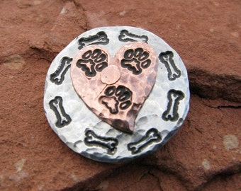 Tripawd 3-Paw Metal Stamped Lapel Pin