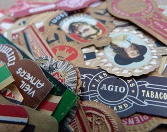 SALE 24 Vintage Labels - Cigar Bands