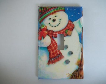 SWITCH PLATE COVER - Snowman