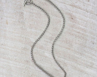 Silver Toggle Clasp 18 inch Chain Necklace