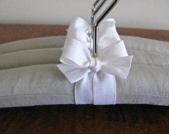 Baby Hangers, Silver Gray Linen, Gray Linen Baby Hangers, Padded Hangers, Linen Baby Hangers, Gray Nursery Decor,  Baby Closet, Baby Gift