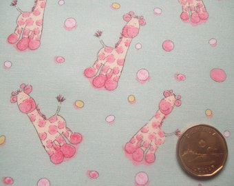 Green Giraff Baby Fabric