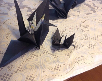 Large Origami Cranes and Swans 10 included With Color Choices