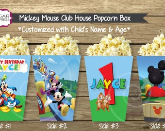 24 - Mickey Mouse Club House Theme Popcorn or Snack Box