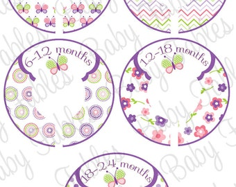 Custom Baby Closet Dividers Clothing Dividers Closet Organizers Baby Girl Nursery Closet Organizer - Assembled, ready to hang