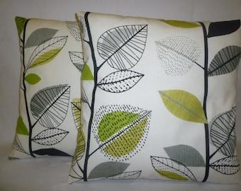 "PAIR Lime Green Pillows 4 CHOICES Mix Match Decorative Designer Funky Cushion Covers Throw Pillows  Shams, Slips PAIR 16"" (40cm)"