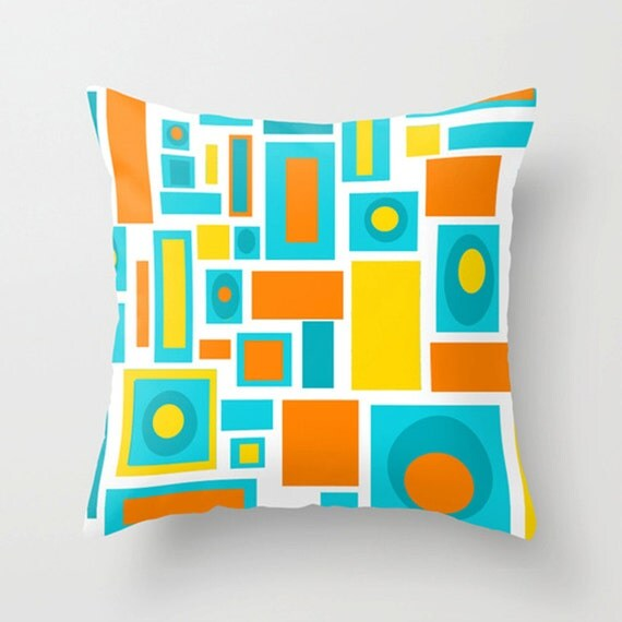 Items similar to Modern Pillow Cover, Mid Century Modern Pillow Cover, Cool Pillow Cover, Retro ...