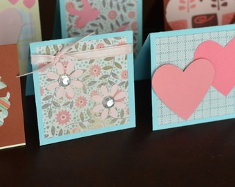 Valentine Mini Cards, Assorted Valentines Day Card Pack, Small Cards for Gifts or Orders, Set of 20