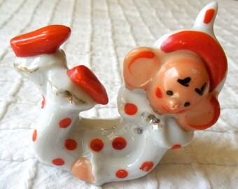 JAPAN Porcelain Clown Paint Brush or Pen Rest