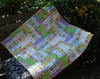 Flannel blocks baby quilt