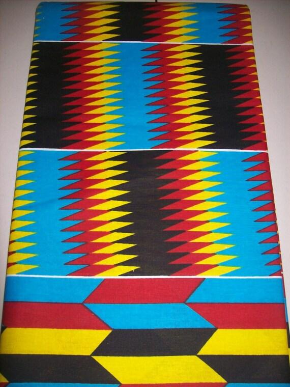 Mélange arc-en-ciel Kente imprimer tissu verge / tissu Kente / Kente tissu habillement / African / Kente suprême