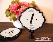 Betty Wedding Table Number Set - Black & Cream