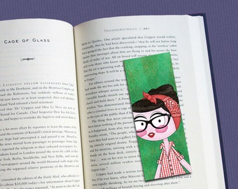 Rockabilly Pin-up illustrated bookmark (glossy finish)