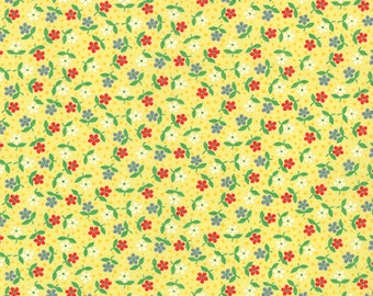 30's Playtime  - Posies in 30's Yellow by Chloe's Closet for Moda Fabrics