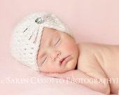 Baby Girl Hat, Baby Girl Flapper Hat, Girl Handmade Hat, Kids Hat, Girl Hat, Girl Hat, Baby Hat, Cream. Photo Props. Baby Gift.