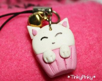 SALES Kawaii kitty cell phone charm