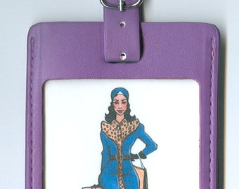 Funny GORGEOUS LEATHER Luggage Tag - We All Have Our Baggage... But This One is NOT Yours (Latina)