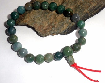 Moss Agate Mala Bracelet Gemstone earthegy