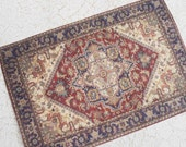 Miniature Victorian or Edwardian Rug Largest Sizes for Dollhouse or Playscale