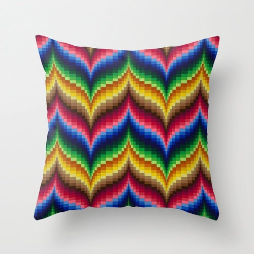 Bargello quilt impressions 1 throw pillow cover all occasion
