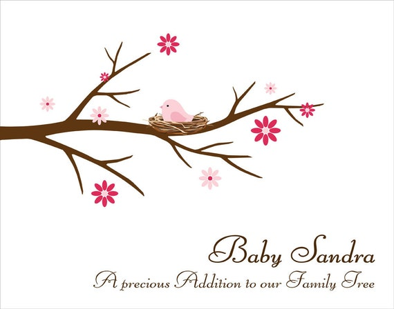 Baby Shower Sign In Tree