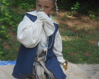 E165   Pirate Renaissance Basic Vest Children's Sizes