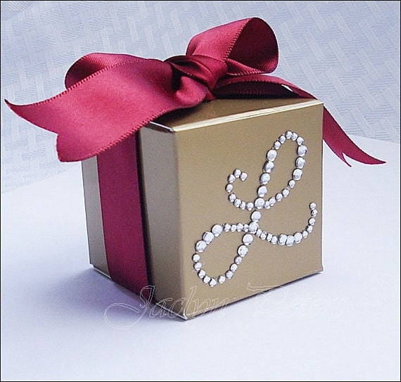 Personalized Party Favor Boxes Birthday : Gold favor box personalized silver by jaclynpetersdesigns