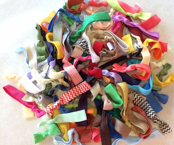 25 hair tie grab bag : Such A Deal Collection of ribbon elastic hair ties for ponytails and wrists