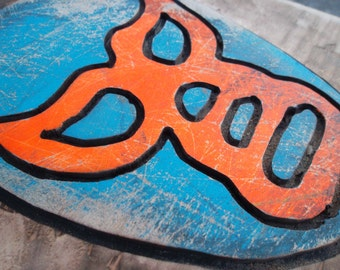 Luchador Mask, wall hanging, wrestling art, carved wood art, mexican style art, wall hanging, Lucha Libre,      MADE TO ORDER