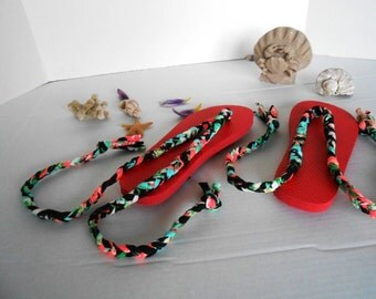 Up-Cycled Roman Flip Flops made with Recycled T-Shirt Yarn offered by kams-store.com
