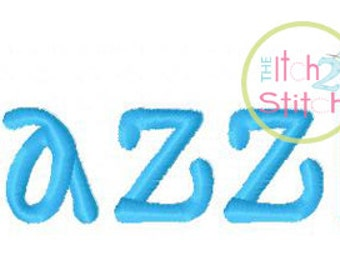 """Razzle Machine Embroidery  Font  .5"""",1"""", 1.5"""" &  2"""" (upper and lower A-Z) INSTANT DOWNLOAD now available"""