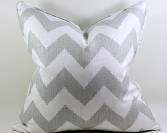 Free Shipping Gray Chevron Linen Pillow Cover, Kravet Limitless, Cushion Cover, Throw Pillow