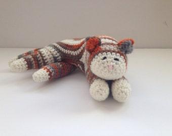 Crochet Cat Calico Tabby Cat Amigurumi