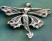 Butterfly Faery QUEEN Fairy Pendant  Sterling Silver Jewelry    FAY008