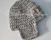 Aviator Hat Grey Tweed